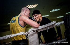 Look who dropped in...Oleksandr Usyk helps his former team mates in training Copyright: World Series of Boxing